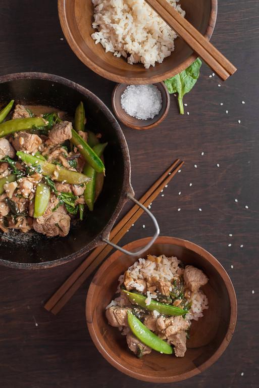 Recipes with snow peas and pork